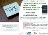 Réservez votre soirée du 16/4 : Carbon'at vous invite à débattre de la Troisième Révolution Industrielle sur notre Territoire