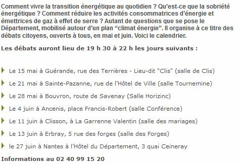 Info Débats citoyens en Loire-Atlantique autour du PCED dans Info - veille capture