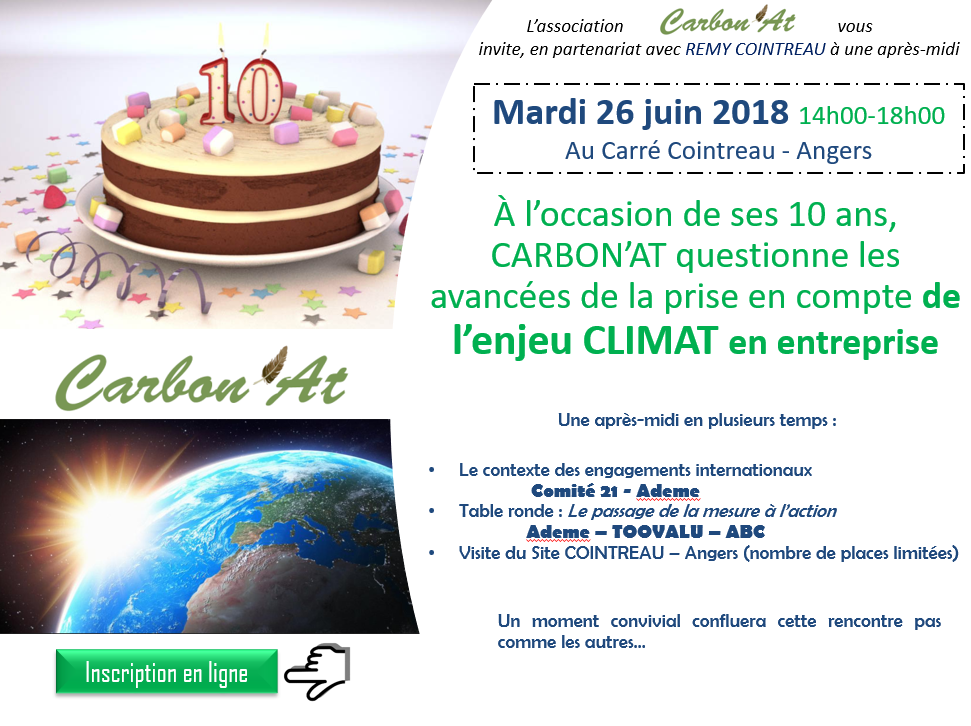 Invitation anniversaire Carbon'at